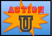 action U logo
